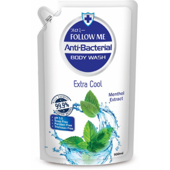 Picture of Follow Me Anti-Bac Body Wash Extra Cool (Refill) 900ML