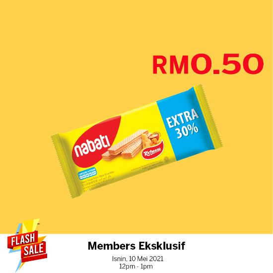 Picture of Nabati Richeese 45g Extra 30% X1