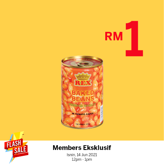 Picture of Rex Baked Beans in Tomato Sauce 425g X1